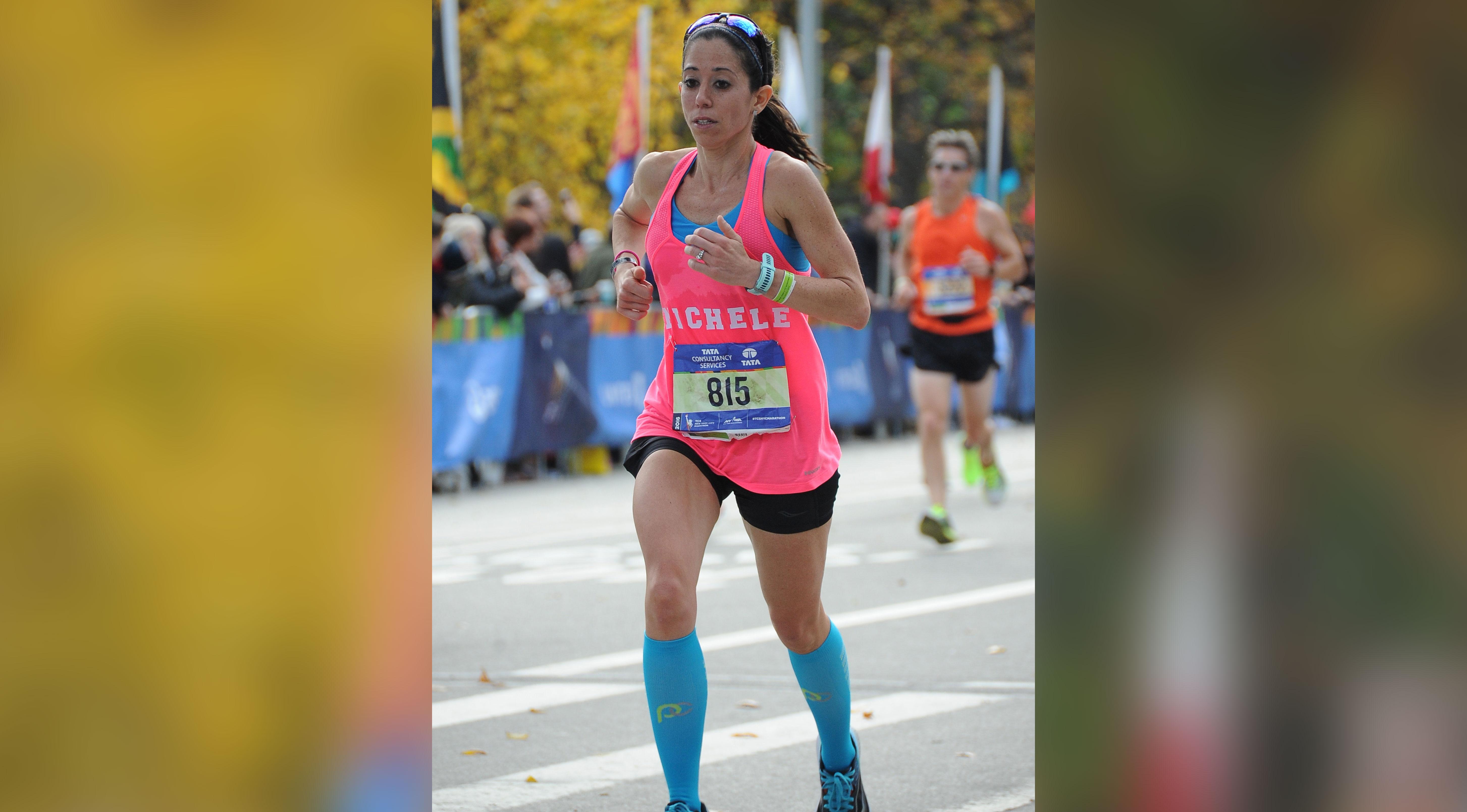 Michele Gonzalez Running New York Marathon