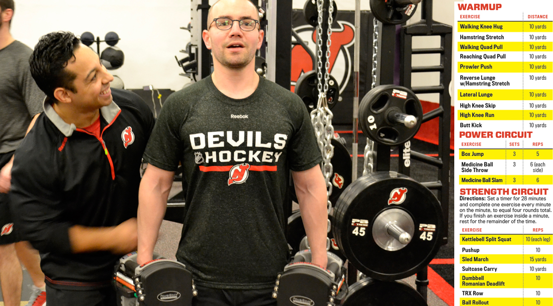 New Jersey Devils Trainers Display Proper Exercise Form And Stretching With Workout Plan