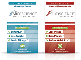 two boxes of slim science supplements