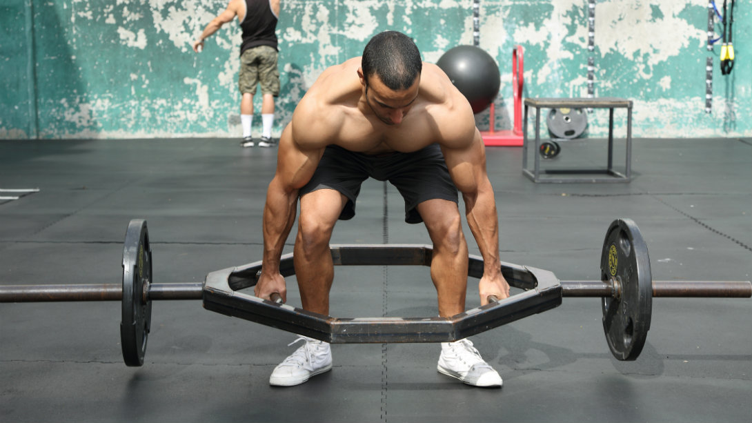 trap bar deadlift