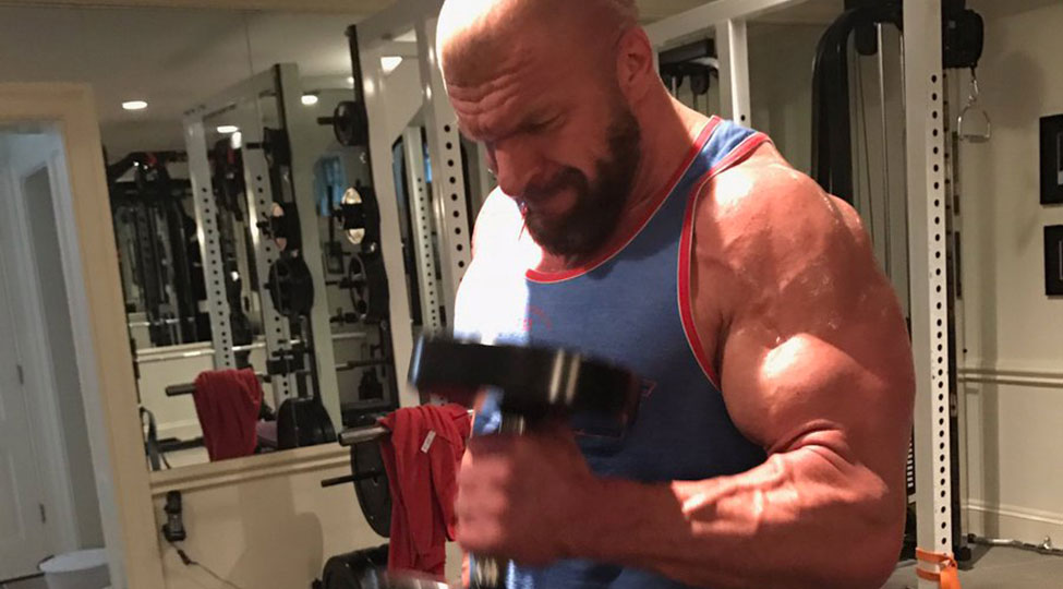 triple h shows off his massive workout gains in