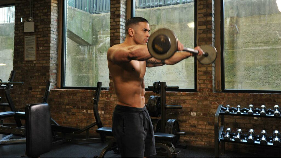 Muscle mass barbell workout