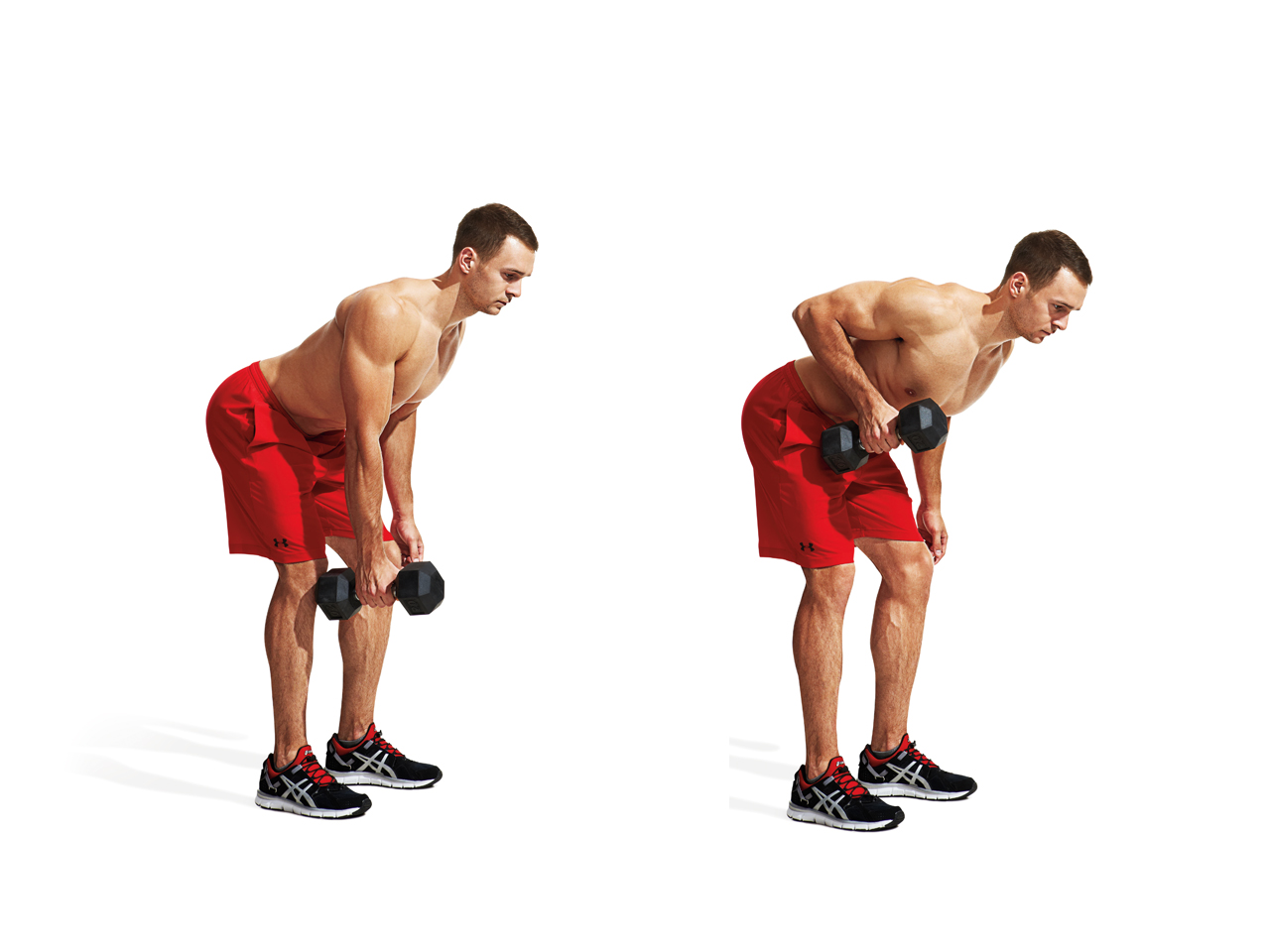 One-Arm, Elbow-In Dumbbell Row Video - Watch Proper Form ...
