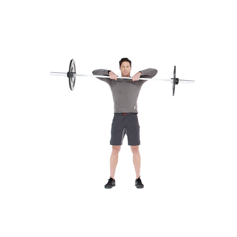 How to properly execute a barbell upright row muscle