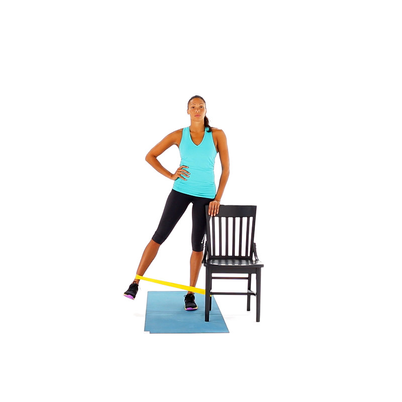 Exercise Bands Hips: Standing Resistance-Band Hip Abduction Video
