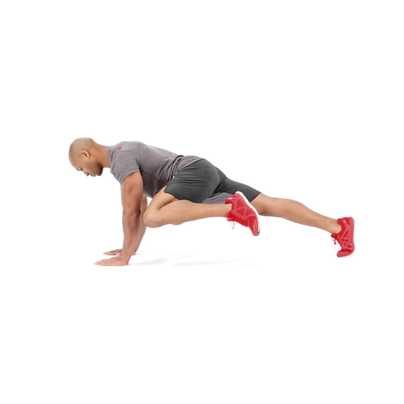 Plank With Knee To Elbow Video Watch Proper Form Get