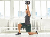 Half-Kneeling Single-Arm Dumbbell Curl to Press thumbnail