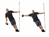 Leaning Dumbbell Lateral Raise thumbnail
