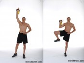 Single-Arm Single-Leg Kettlebell Press thumbnail