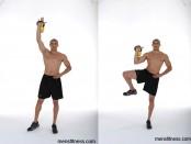 Single-Arm Single-Leg Kettlebell Press thumbnail