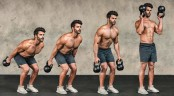 Kettlebell Double Bottoms-Up Outside-The-Body Clean  thumbnail