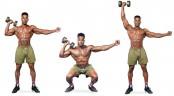 One-Arm Squat To Shoulder Press  thumbnail
