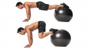 Stability Ball Knee Tuck  thumbnail