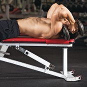 Rolling dumbbell triceps extension thumbnail
