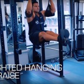 Weighted Hanging Leg Raise thumbnail