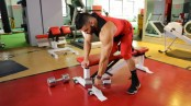 College Muscle One Arm DB Row thumbnail