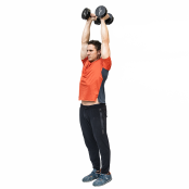 Overhead Two-Arm Triceps Extension  thumbnail