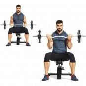 Seated Barbell Biceps Curl thumbnail