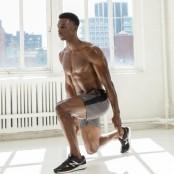 Man doing a squat.  thumbnail