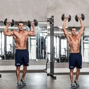 Standing Dumbbell Military Press thumbnail