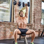Seated Overhead Dumbbell Press thumbnail