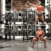 Michelle Lewin Sumo Squat To One Arm Press  thumbnail