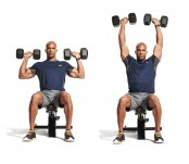 Seated dumbbell overhead press thumbnail