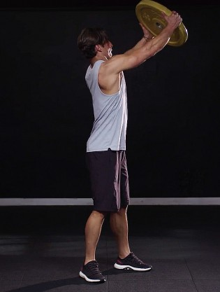 Explosively punch the plate diagonally up to your left side extending your arms above shoulder-height. That\u0027s one rep on one side. & Plate Diagonal Punch Video - Watch Proper Form Get Tips \u0026 More ...