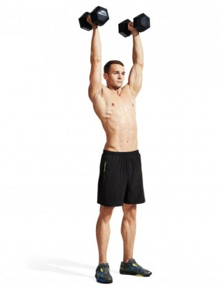 how to do front squat to overhead press muscle  fitness