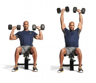 Image result for Seated Overhead Dumbbell Press