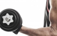 Close-Up of Arm Holding Dumbbell