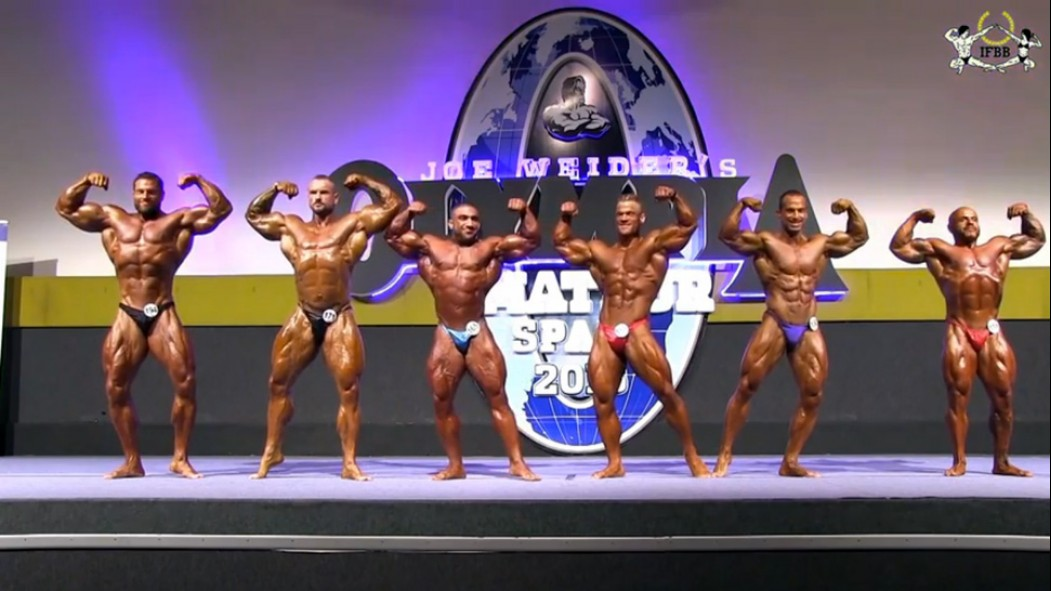 2015 Amateur Olympia Spain Bodybuilding Posedown Video Thumbnail