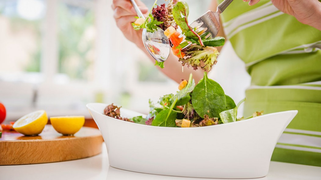 Woman Eating Healthy Salad thumbnail