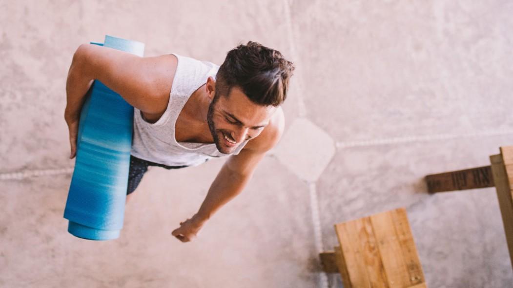 Man with Yoga Mat thumbnail