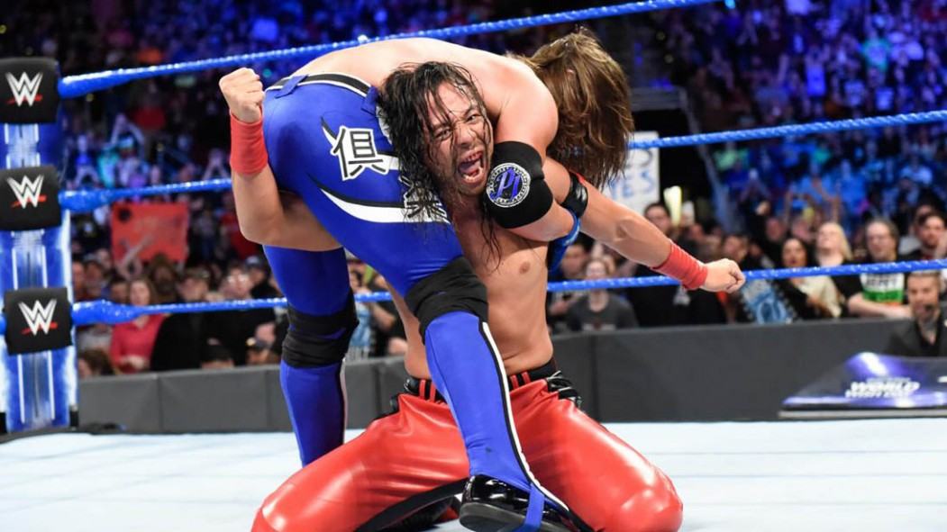 Shinsuke Nakamura and AJ Styles on 'Smackdown Live' on April 24, 2018 thumbnail