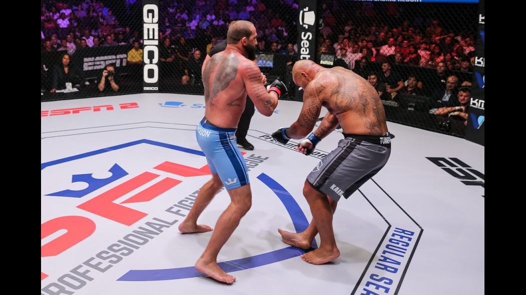 MMA heavyweight Alex Nicholson looks to advance to the PFL Championships on New Year's Eve. thumbnail
