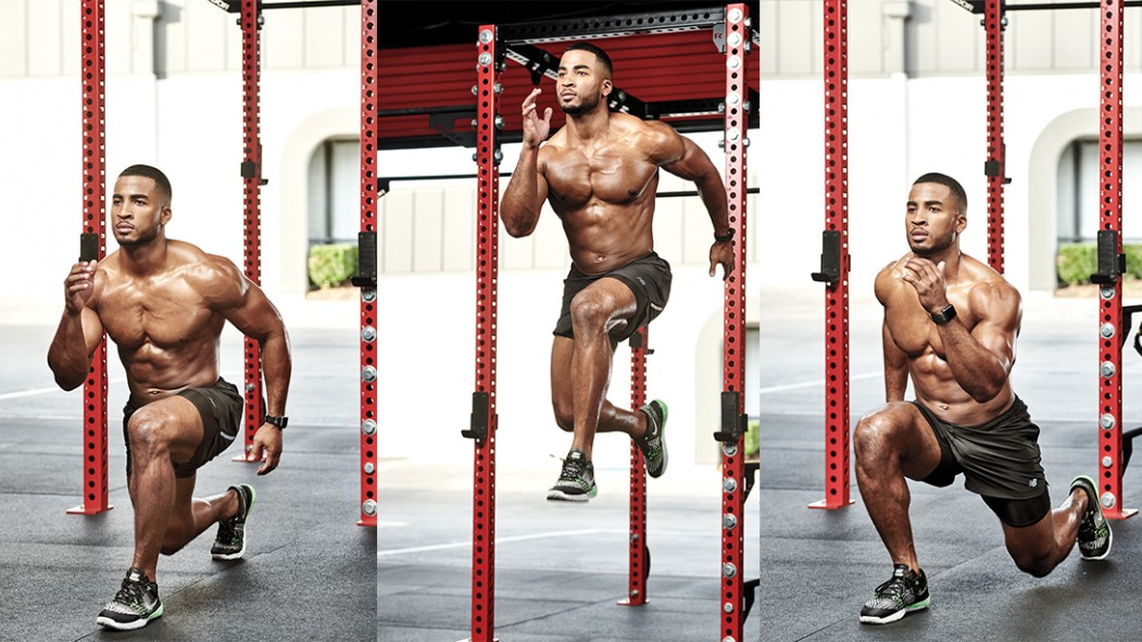 John Gaines Jr. Performing a Jumping Lunge thumbnail