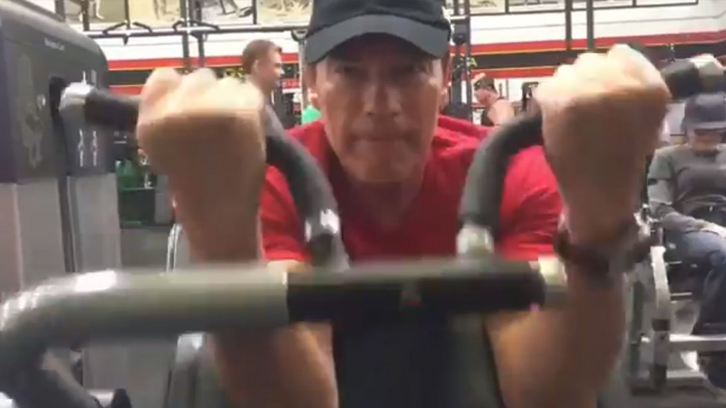Arnold Schwarzenegger Back in the Gym After Surgery: 'Your Support Has Really Pumped Me Up' thumbnail