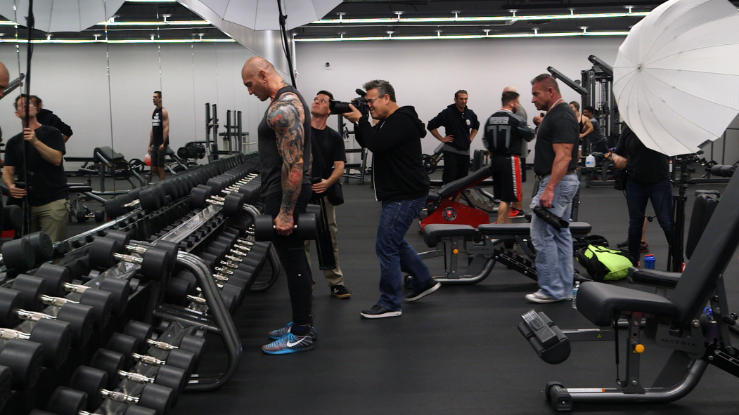 Behind the Scenes at the Dave Bautista Cover Shoot Video Thumbnail