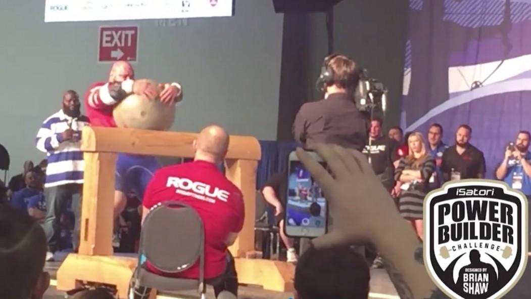 WATCH: Strongman Brian Shaw's World Record 560-Pound Atlas Stone Raise Video Thumbnail