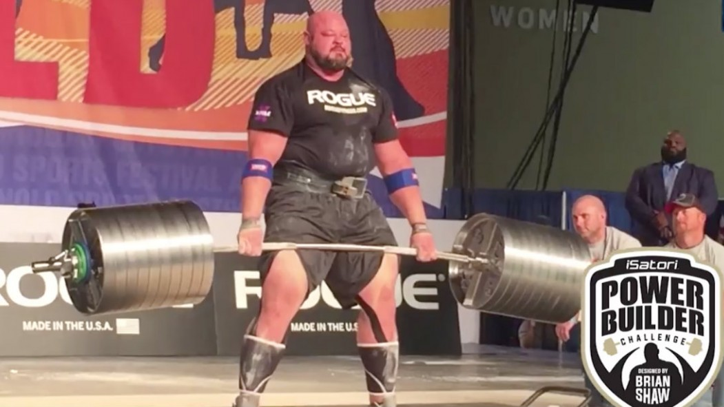 WATCH: Strongman Brian Shaw Conquer 991-Pound Deadlift Video Thumbnail