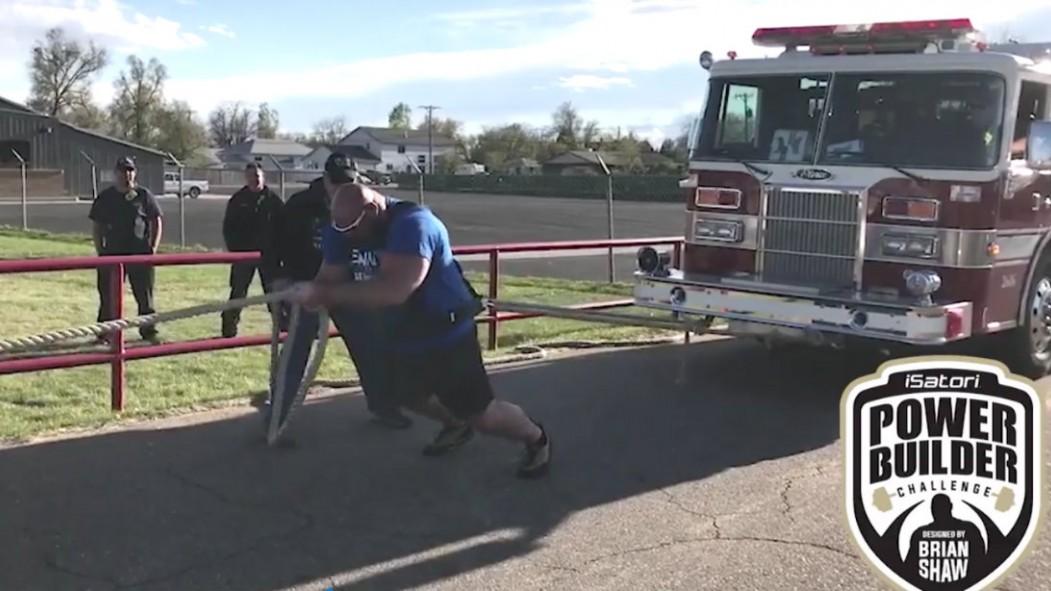 WATCH: Strongman Brian Shaw Pulls a 6 Ton Fire Truck  Video Thumbnail
