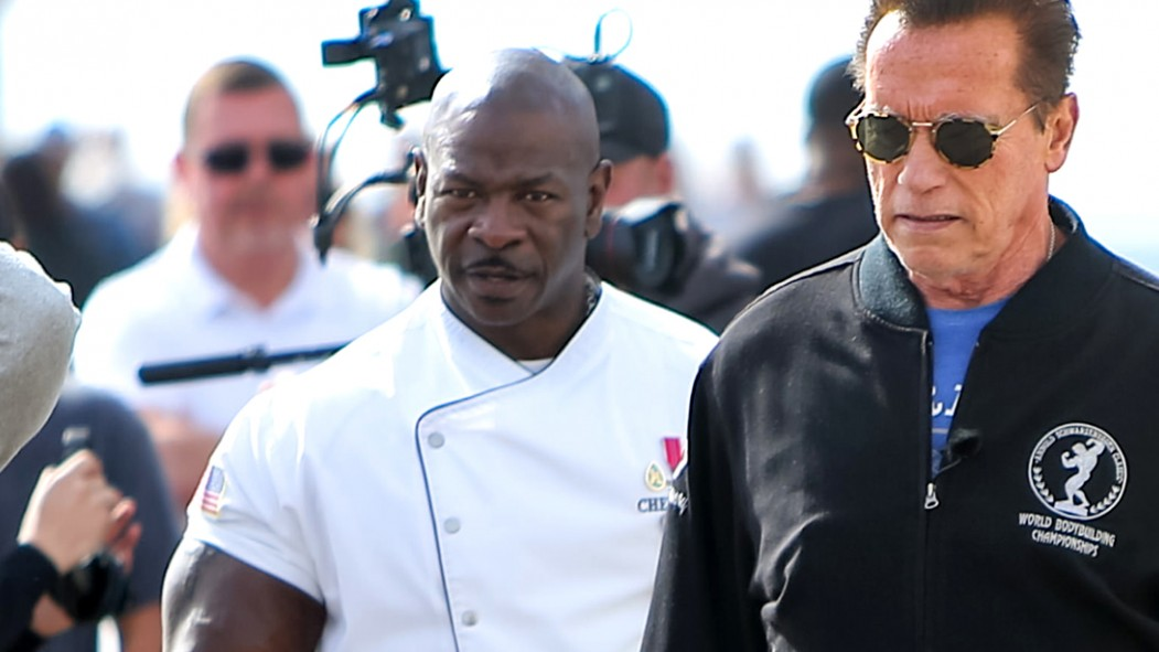 Chef-Andre-Rush-With-Arnold-Schwarzenegger thumbnail