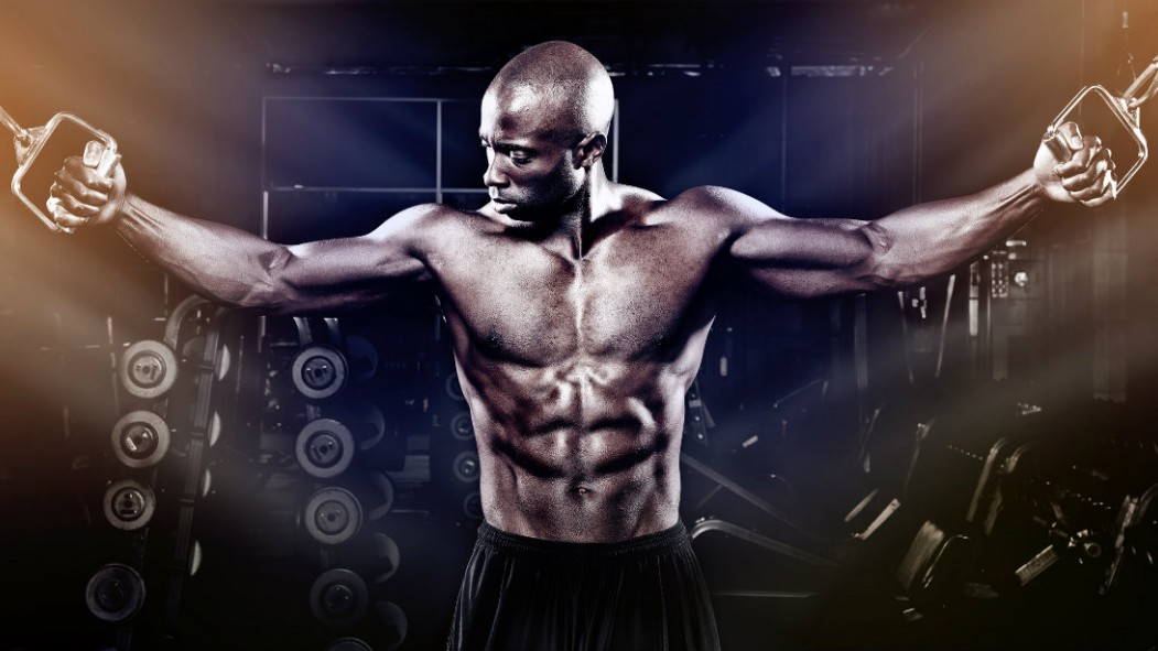Man using cable machine to perform chest fly exercise thumbnail