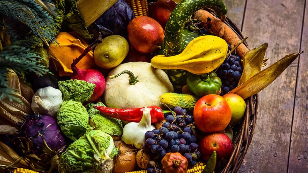Las 10 frutas y verduras de otoño con menos carbohidratos en miniatura