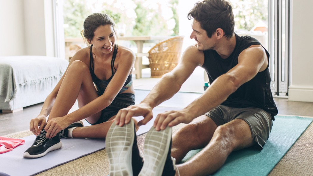 Fitness-Couple-Warming-Up-For-Home-Workout thumbnail