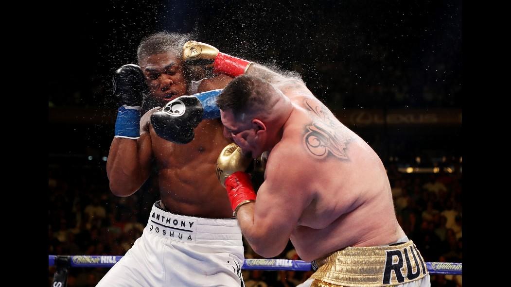 Andy Ruiz knocking out Anthony Joshua on June 3 thumbnail