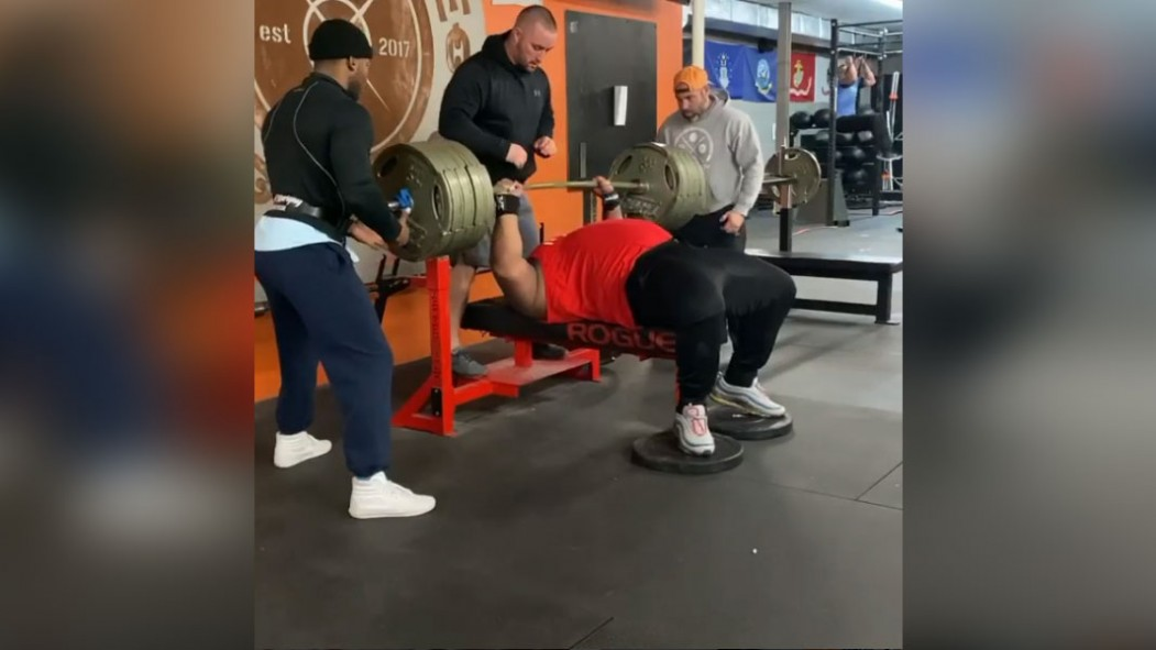 Julius Maddox Bench Presses 765 Pounds for Unofficial World Record thumbnail