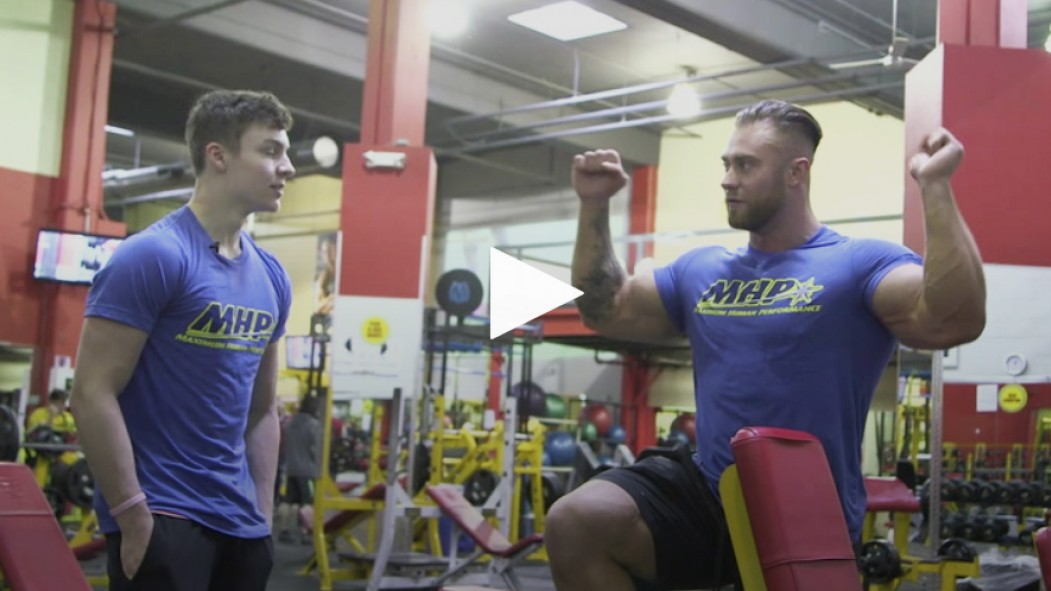 Chris Bumstead trains shoulders with contest winner Video Thumbnail