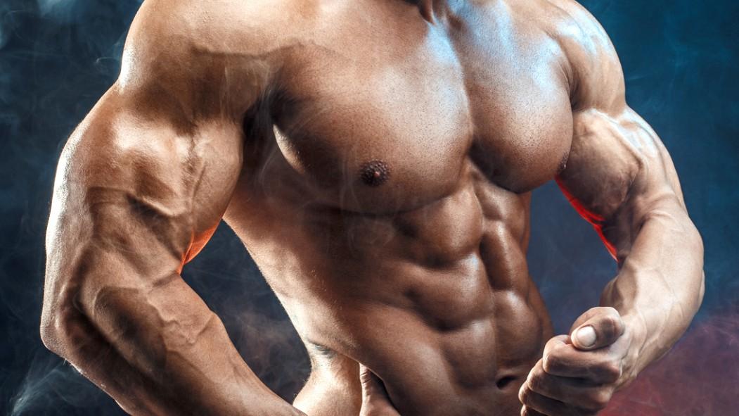 Muscular-Bodybuilder-Posing-Bicep-Muscle thumbnail